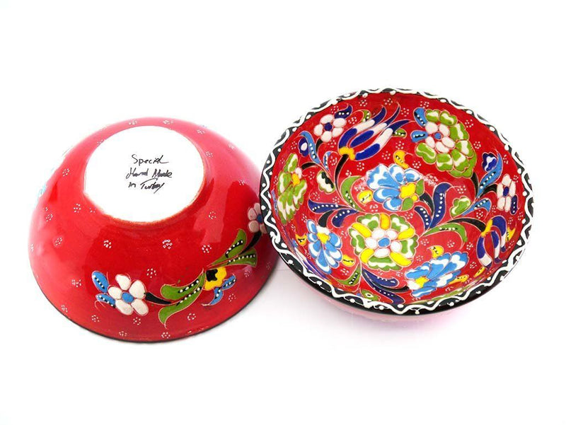 Turkish Bowls hand painted red colour