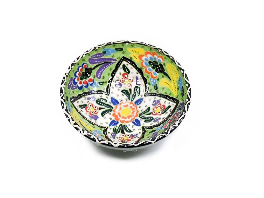 10 cm Turkish Bowls Flower Collection Light Green