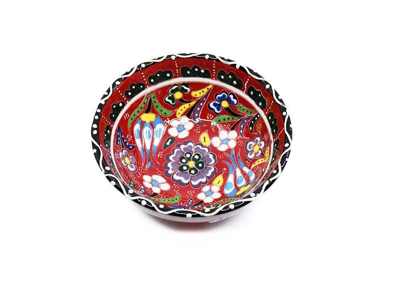 Turkish Bowls Flower Collection Red Colour