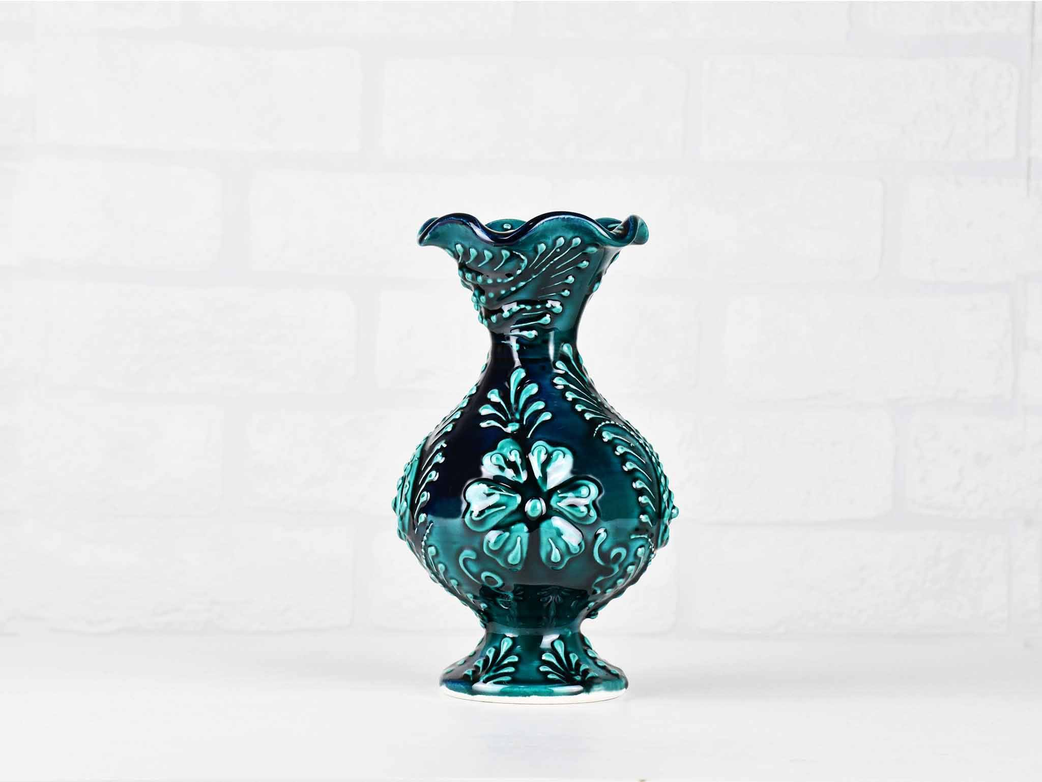 Turkish Ceramic Firuze Vase 15 Cm Green New Collection Australia Sydney Grand Bazaar