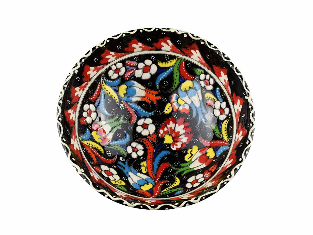 15 cm Turkish Bowls Flower Collection Black Ceramic Sydney Grand Bazaar 1