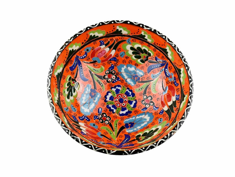 15 cm Turkish Bowls Flower Collection Orange Ceramic Sydney Grand Bazaar 10