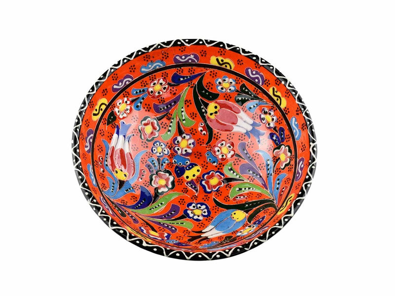 15 cm Turkish Bowls Flower Collection Orange Ceramic Sydney Grand Bazaar 7