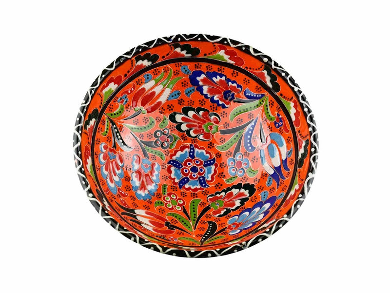 15 cm Turkish Bowls Flower Collection Orange Ceramic Sydney Grand Bazaar 4