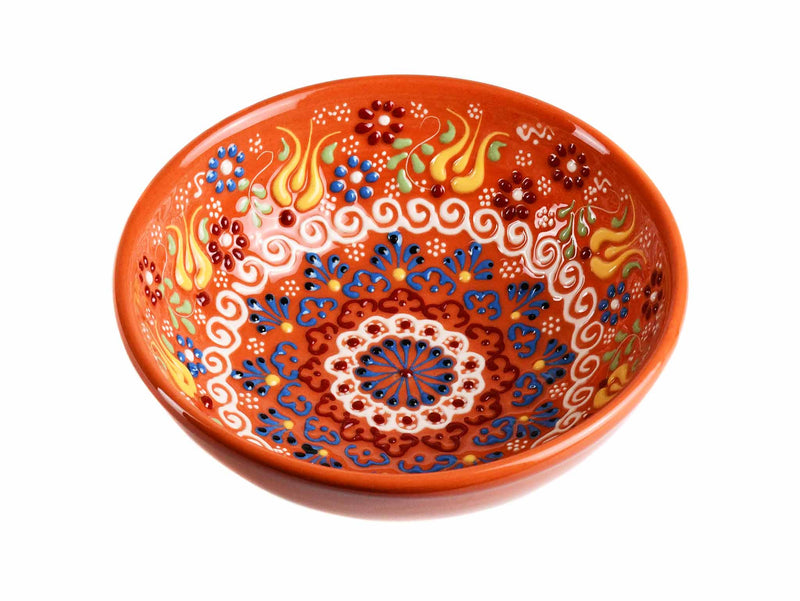 15 cm Turkish Bowls New Dantel Collection Orange Ceramic Sydney Grand Bazaar