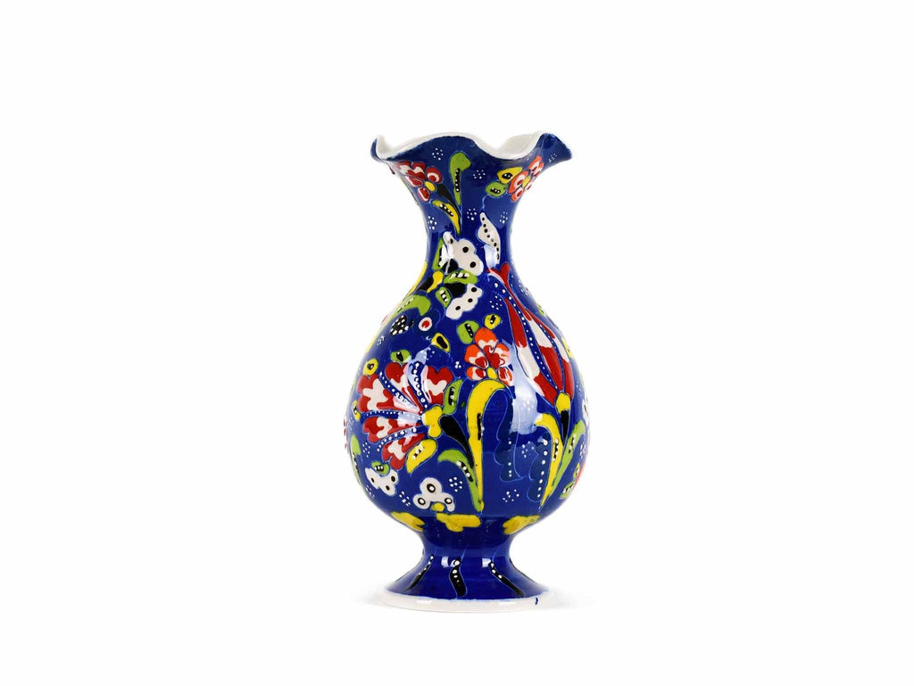 15 cm Turkish Ceramic Vase Flower Blue Design 2 Ceramic Sydney Grand Bazaar