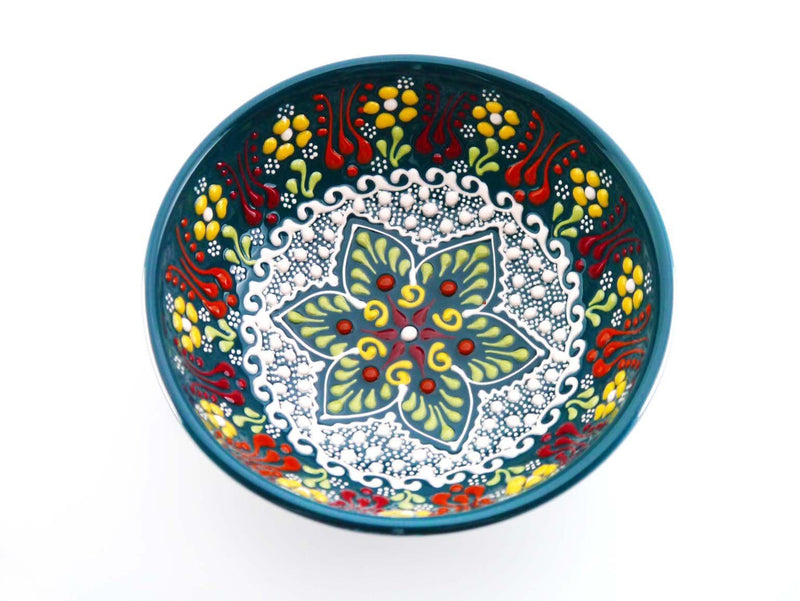 15 cm Turkish Bowls New Dantel Collection Green