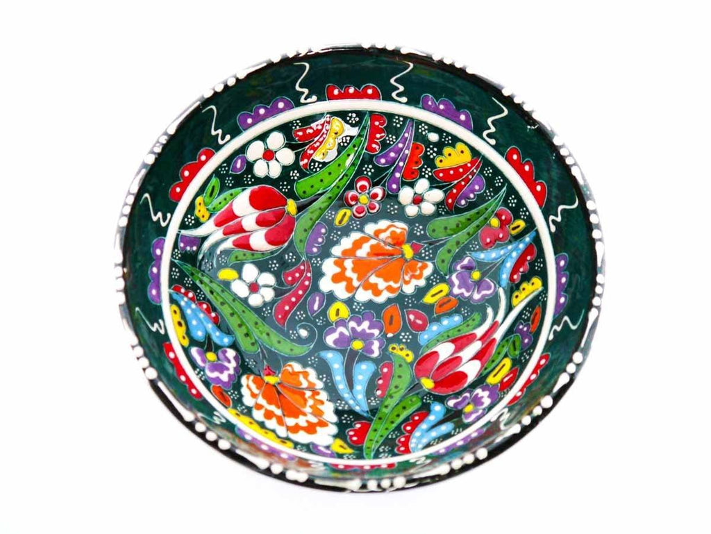 15 cm Turkish Bowls Flower Collection Green