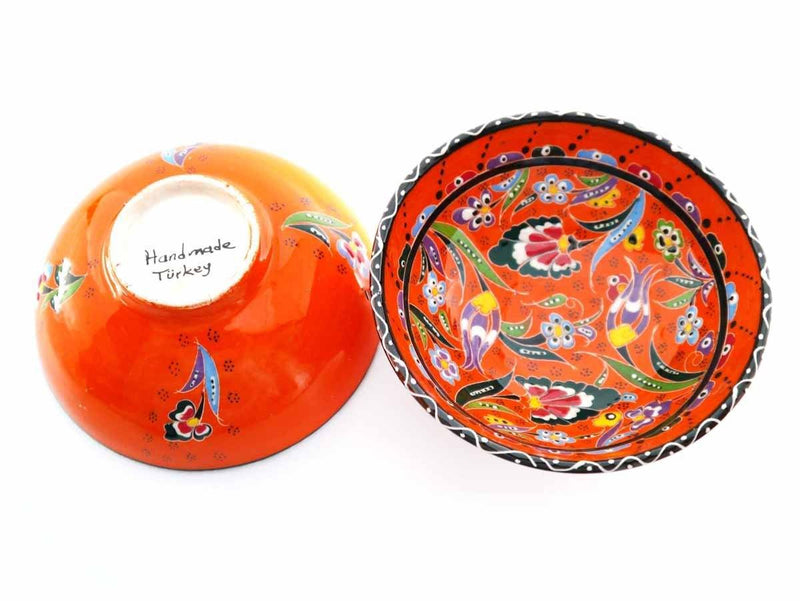 15 cm Turkish Bowls Flower Collection Orange