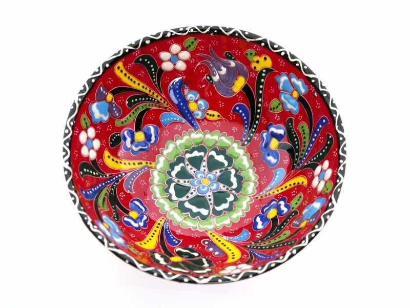 15 cm Turkish Bowls Flower Collection Red