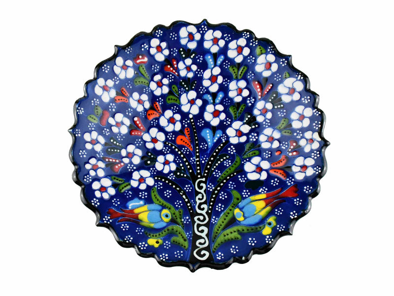 18 cm Turkish Plate Flower Collection Blue Ceramic Sydney Grand Bazaar 1