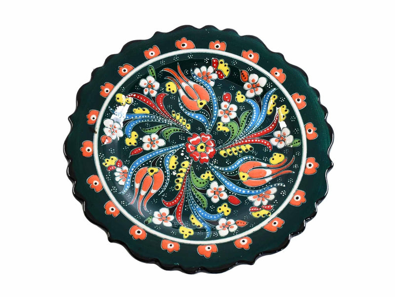 18 cm Turkish Plate Flower Collection Green Ceramic Sydney Grand Bazaar 2
