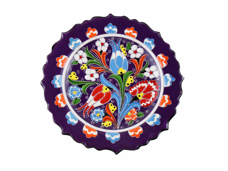 18 cm Turkish Plate Flower Collection Purple Ceramic Sydney Grand Bazaar 2