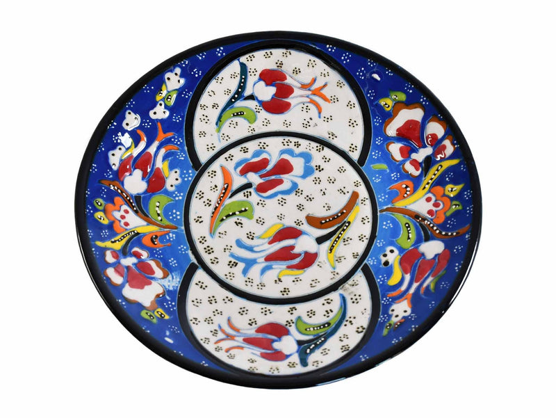 18 cm Turkish Plate Flower Round Collection Blue Ceramic Sydney Grand Bazaar 3