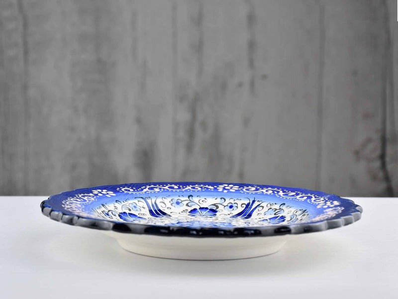 18 cm Turkish Plate New Millenium Collection Blue Ceramic Sydney Grand Bazaar