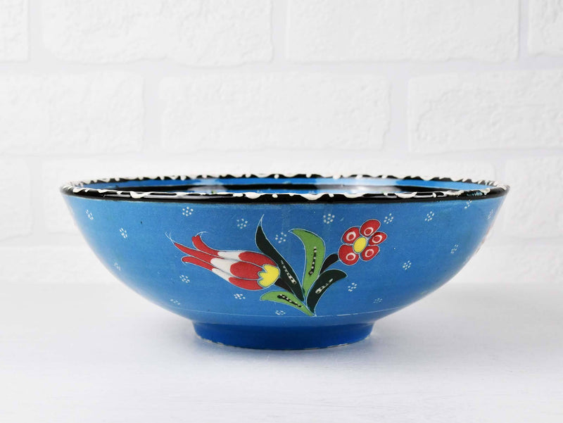20 cm Turkish Bowl Flower Light Blue Ceramic Sydney Grand Bazaar