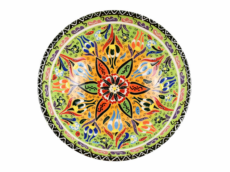20 cm Turkish Bowl Flower Light Green Ceramic Sydney Grand Bazaar 3