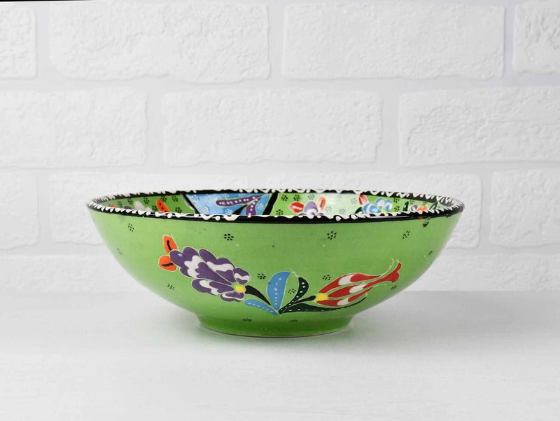 20 cm Turkish Bowl Flower Light Green Ceramic Sydney Grand Bazaar