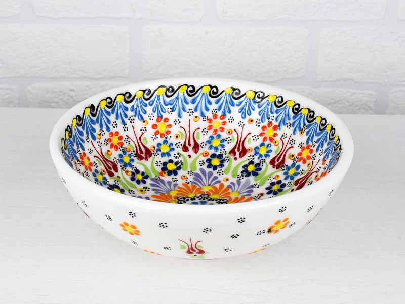 20 cm Turkish Bowls Dantel White Ceramic Sydney Grand Bazaar