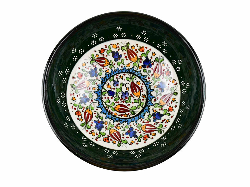 20 cm Turkish Bowls Millennium Collection Green Ceramic Sydney Grand Bazaar 1