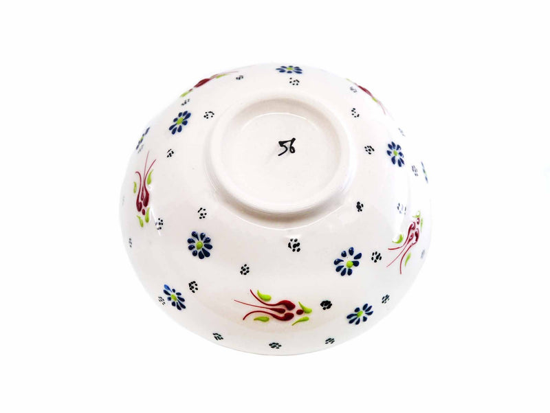 20 cm Turkish Bowls Dantel White Back Side