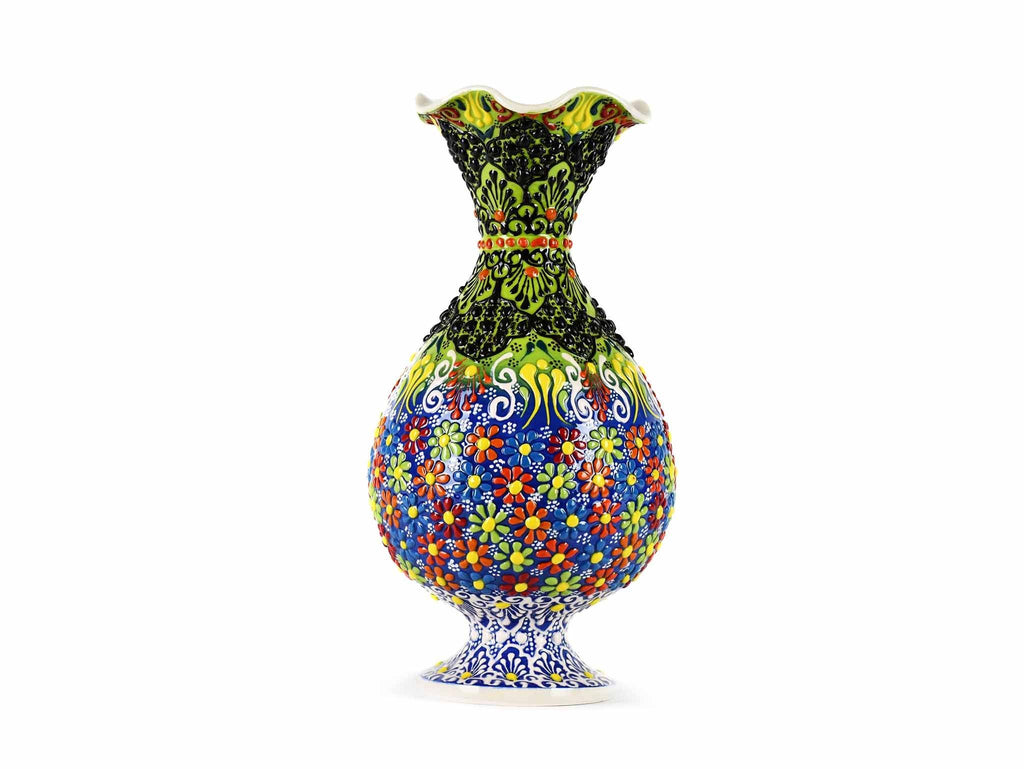 25 cm Turkish Ceramic Vase Dantel Light Green Blue Ceramic Sydney Grand Bazaar