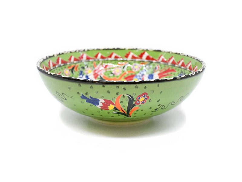 25 cm Turkish Bowls Flower Green Colour