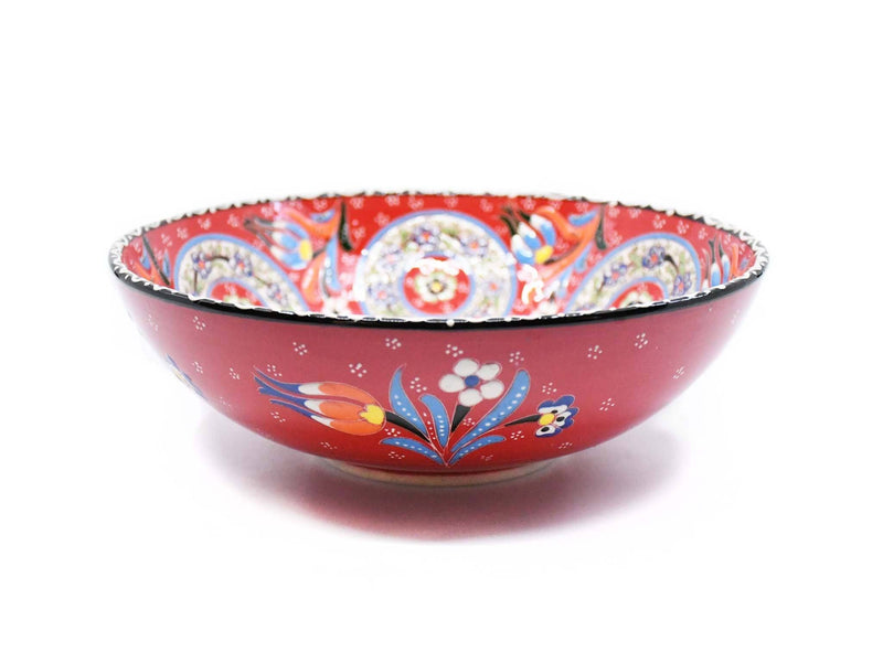 Turkish Ceramic Bowls Red Colour