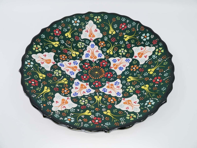 turkish ceramic plate green colour