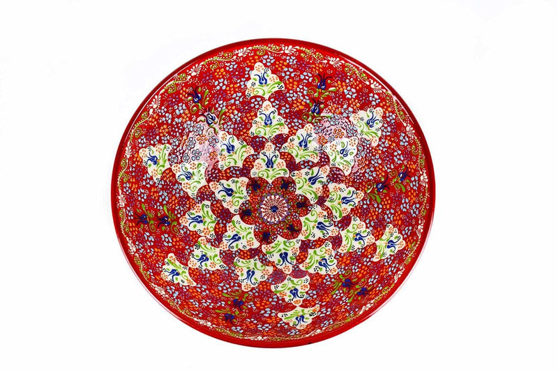 30 cm Turkish Bowl Dantel Red Ceramic Sydney Grand Bazaar