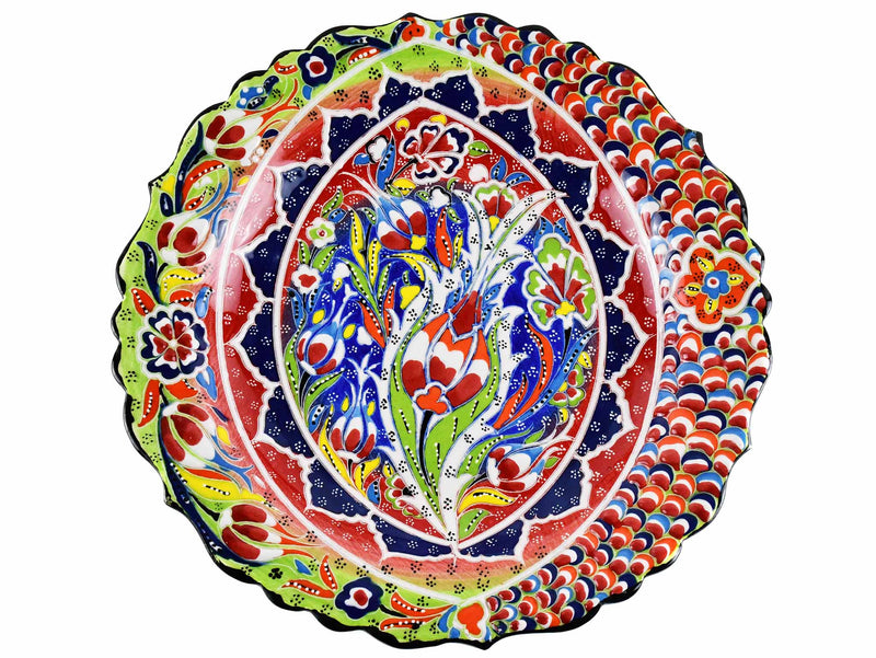 30 cm Turkish Plate Daisy Shaped Flower Collection Light Green Ceramic Sydney Grand Bazaar 1