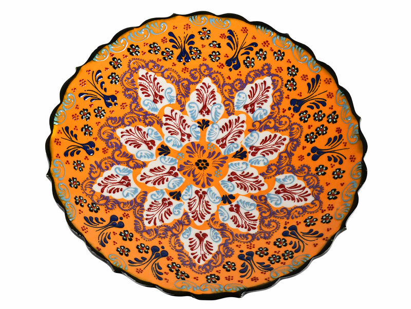 30 cm Turkish Plate Dantel Collection Yellow Ceramic Sydney Grand Bazaar