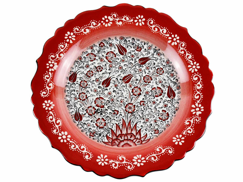 30 cm Turkish Plate New Millenium Collection Red Ceramic Sydney Grand Bazaar