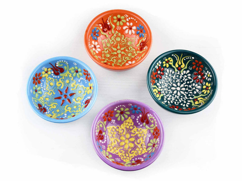 25 cm Turkish Bowls Flower Orange