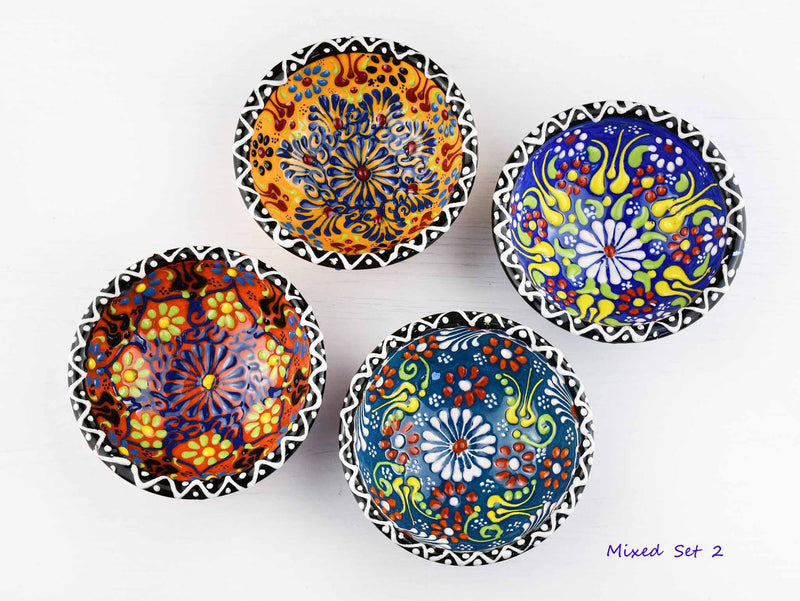 5 cm Turkish Bowls Dantel Nimet Set of 4 Ceramic Sydney Grand Bazaar Mixed set 2