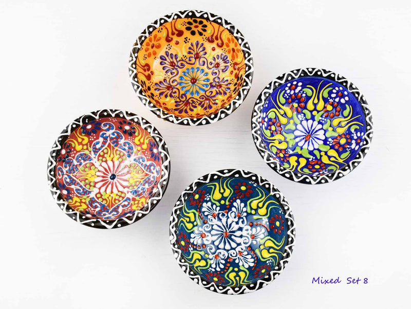 5 cm Turkish Bowls Dantel Nimet Set of 4 Ceramic Sydney Grand Bazaar Mixed set 8
