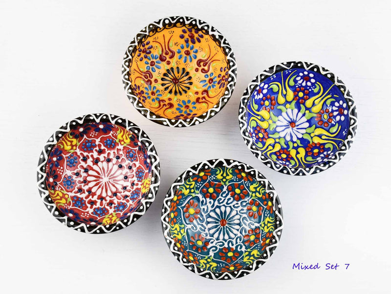5 cm Turkish Bowls Dantel Nimet Set of 4 Ceramic Sydney Grand Bazaar Mixed set 7