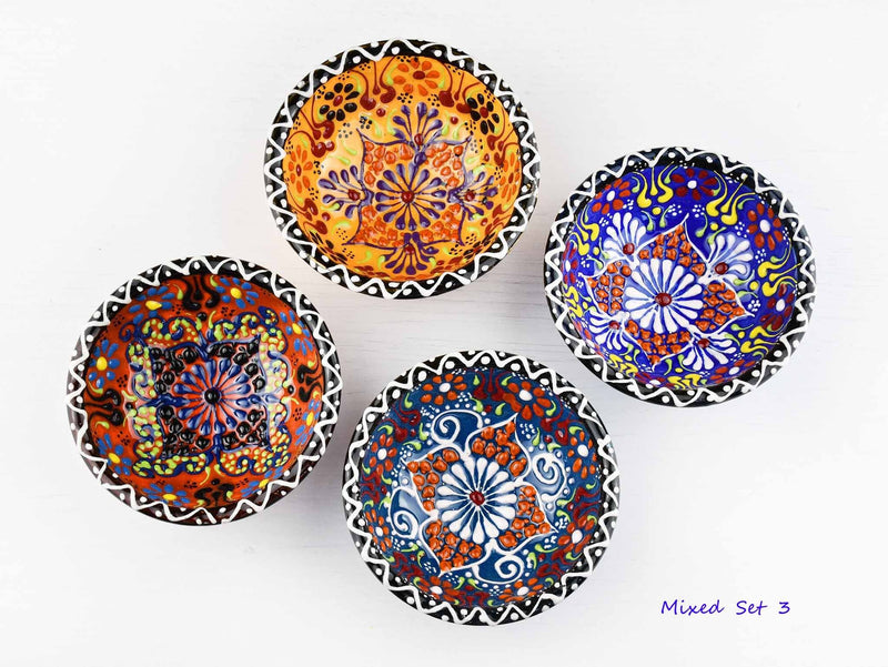 5 cm Turkish Bowls Dantel Nimet Set of 4 Ceramic Sydney Grand Bazaar Mixed set 3