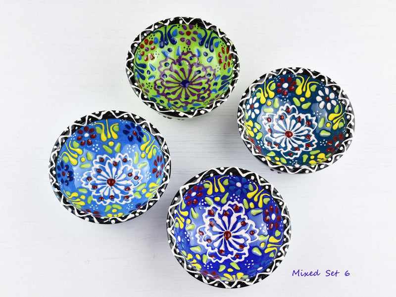 5 cm Turkish Bowls Dantel Nimet Set of 4 Ceramic Sydney Grand Bazaar Mixed set 6