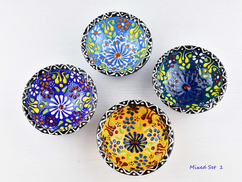 5 cm Turkish Bowls Dantel Nimet Set of 4 Ceramic Sydney Grand Bazaar Mixed set 1