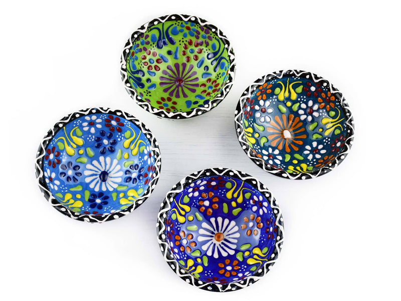 10 cm Turkish Bowls Flower Collection Green