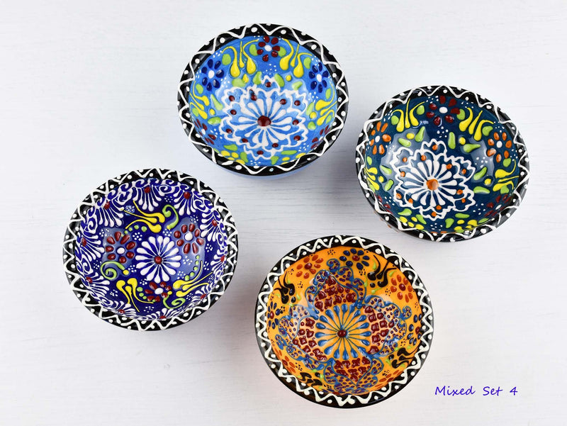 5 cm Turkish Bowls Dantel Nimet Set of 4 Ceramic Sydney Grand Bazaar Mixed set 4