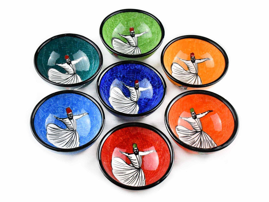 5 cm Turkish Bowls Dervishes Collection Set of 7 Ceramic Sydney Grand Bazaar