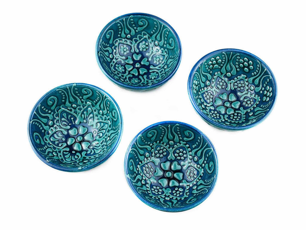 5 cm Turkish Bowls Firuze Collection Green Set of 4 Ceramic Sydney Grand Bazaar