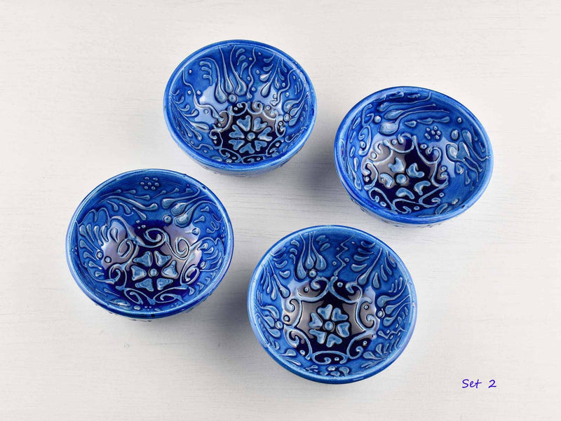 5 cm Turkish Bowls Firuze Collection Set of 4 Ceramic Sydney Grand Bazaar Set 2