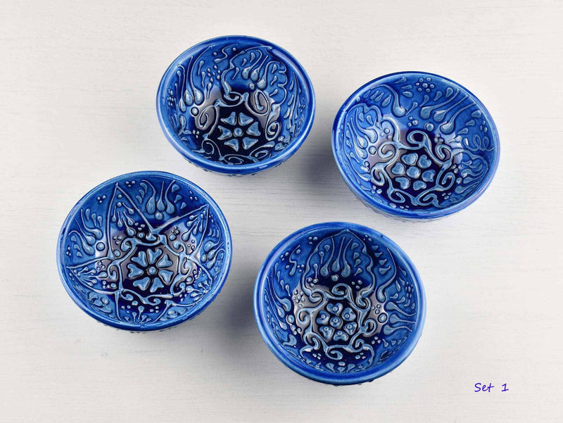 5 cm Turkish Bowls Firuze Collection Set of 4 Ceramic Sydney Grand Bazaar Set 1