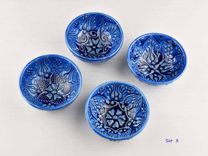 5 cm Turkish Bowls Firuze Collection Set of 4 Ceramic Sydney Grand Bazaar Set 3