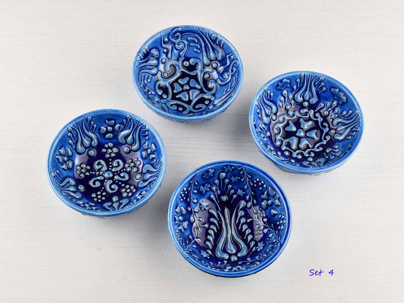 5 cm Turkish Bowls Firuze Collection Set of 4 Ceramic Sydney Grand Bazaar Set 4