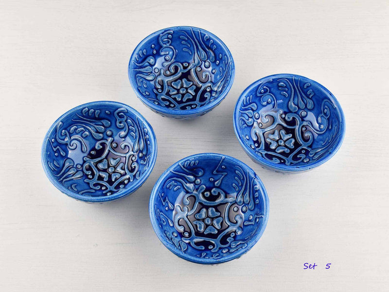 5 cm Turkish Bowls Firuze Collection Set of 4 Ceramic Sydney Grand Bazaar Set 5