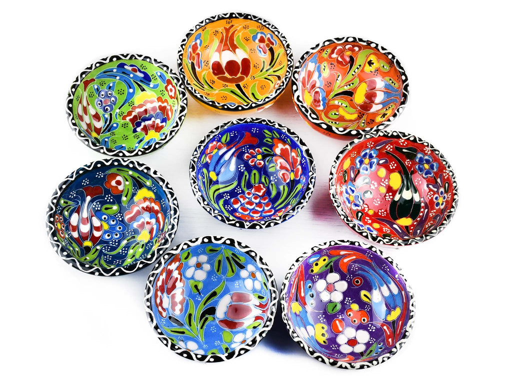 5 cm Turkish Bowls Flower Collection Set of 8 Ceramic Sydney Grand Bazaar